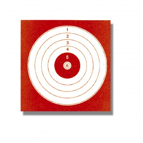 Cibles 14X14 Rouge