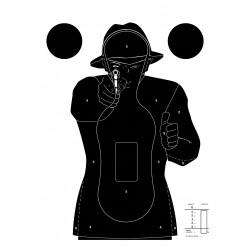 Cible silhouette noir