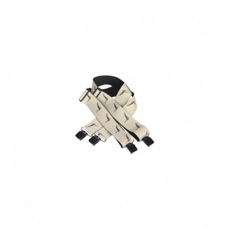 Bretelles élastiques larges. Pinces maxi.