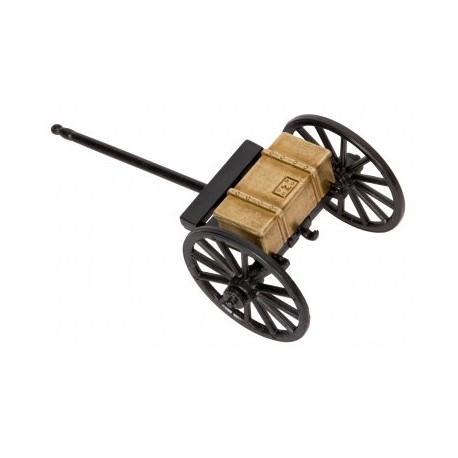 Chariot de canon guerre civile, Etats Unis 1857