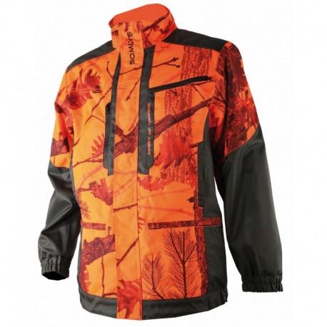 Veste anti ronce en EVO, camouflage orange.