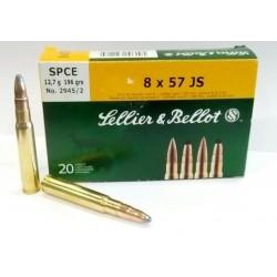 Cartouche Sellier & Bellot 8X57 JS SPCE 12.7 g 2945