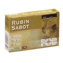 Cartouche FOB Rubin Sabot Brenneke 28 12/70 boite de 5